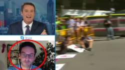 En direct, ce journaliste français a dû calmer les pleurs de son