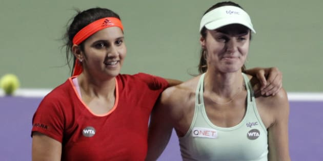 Martina Hingis and Sania Mirza.
