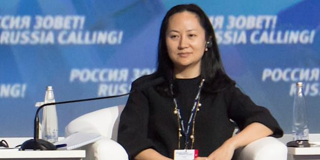 "Meng Wanzhou, chief financial officer of Chinese technology giant Huawei, attends a session of the VTB Capital Investment Forum ""Russia Calling!"" in Moscow, Russia, Oct. 2, 2014. Meng was arrested in Canada and faces extradition to the United States."