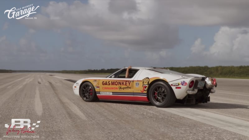 Watch Johnny Bohmer Hit An Unofficial Record  Mph In His Ford Gt Autoblog