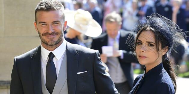 David y Victoria Beckham, en la boda del príncipe Harry y Meghan Markle.