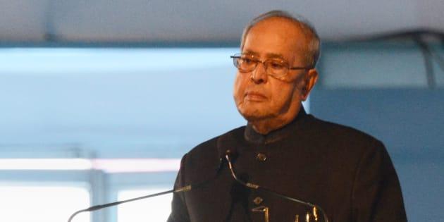 File photo of the Indian President, Pranab Mukherjee.