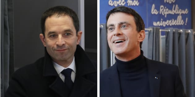 Benoît Hamon et Manuel Valls ont voté ce dimanche dans la matinée à Trappes et à Evry.