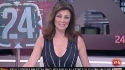 El ataque de risa de Beatriz Pérez Aranda en pleno informativo del Canal 24 Horas de