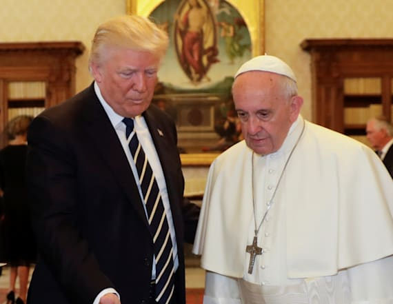 Report: Pope gave void response to Trump greeting