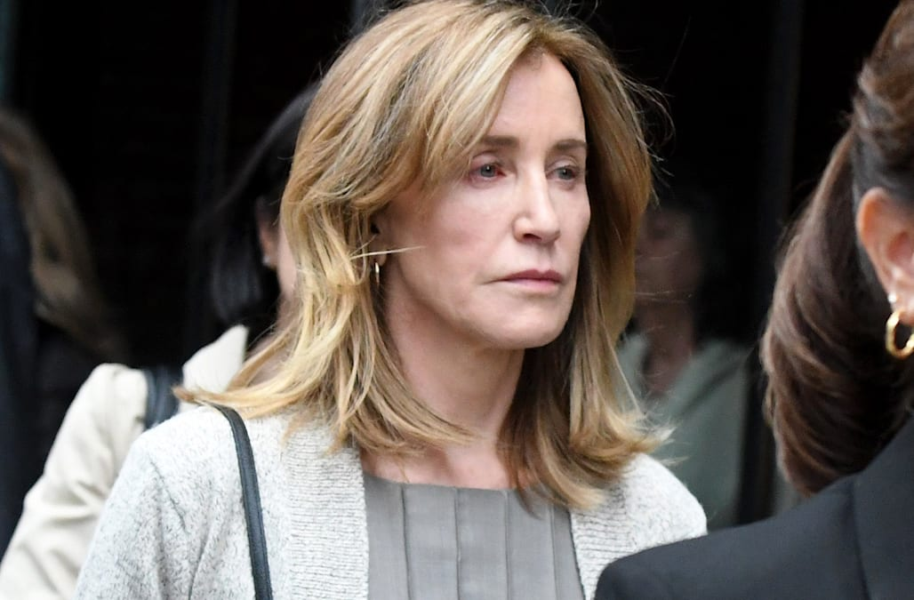 Felicity Huffman arrives in Boston for sentencing amid marital troubles: Was her husband with her? - AOL