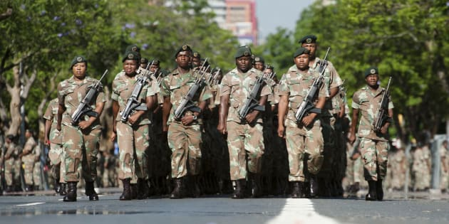 South African National Defence Force (SANDF) soldiers.