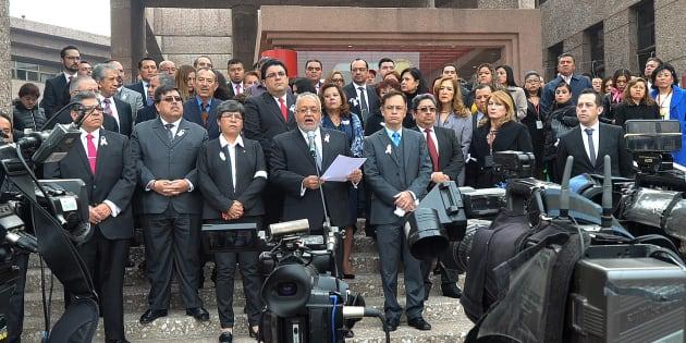 El Magistrado Luis Vega Ramírez, Presidente de la Asociación Nacional de Magistrados de Circuito y de Jueces de Distrito del Poder Judicial de la Federación, A.C., leyó un posicionamiento sobre la Autonomía e Independencia Judicial de Magistrados de Circuito y Jueces de Distrito.