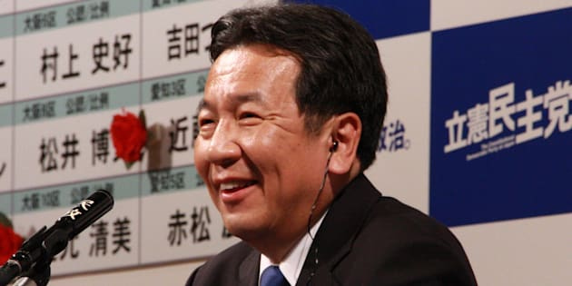 枝野幸男代表=2017/10/22(都内ホテル・立憲民主党の開票センター)