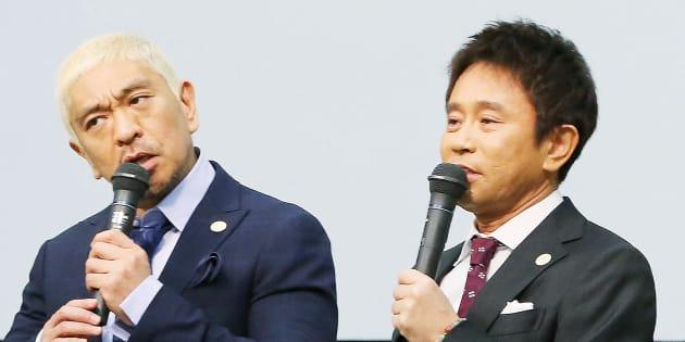 お笑いコンビ・ダウンタウンの松本人志(左)と浜田雅功(右)