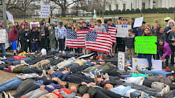 High School Students Lead Protest Against Gun Violence In Front Of White