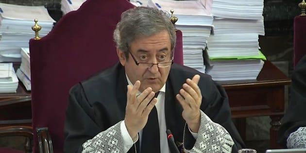 El Fiscal del Supremo, Javier Zaragoza, durante la segunda jornada del juicio del 'procés'.