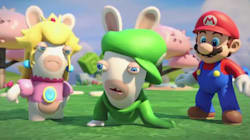 Mario s'invite chez les Lapins