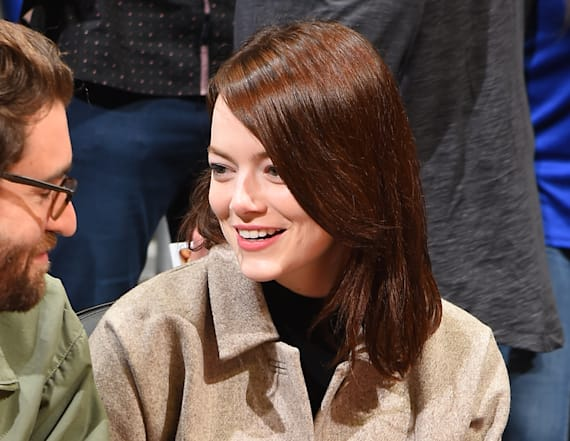 Emma Stone makes rare outing with boyfriend