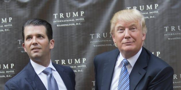 Imagen de archivo del presidente de EEUU, Donald Trump, con su hijo mayor, Donald Trump Jr.