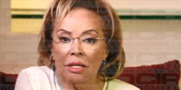 Elba Esther Gordillo en el video enviado a Ciro Gómez Leyva.