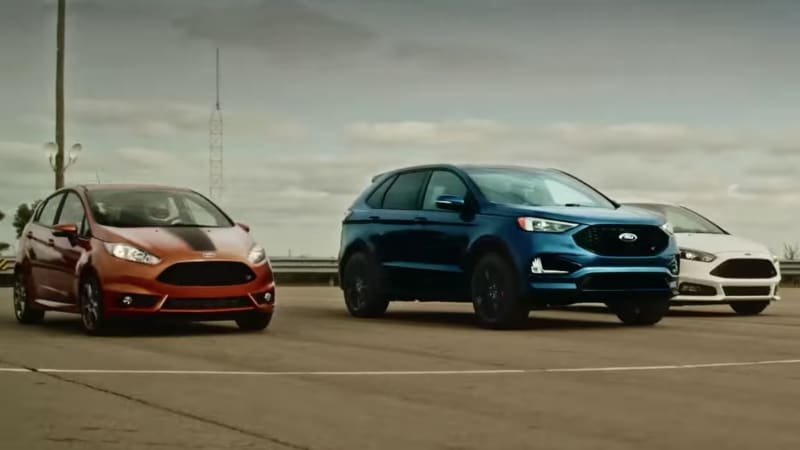Ford Drag Races The Edge St Focus St And Fiesta St Against Each Other Autoblog