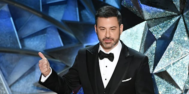 HOLLYWOOD, CA - MARCH 04:  Host Jimmy Kimmel speaks onstage during the 90th Annual Academy Awards at the Dolby Theatre at Hollywood & Highland Center on March 4, 2018 in Hollywood, California.  (Photo by Kevin Winter/Getty Images)