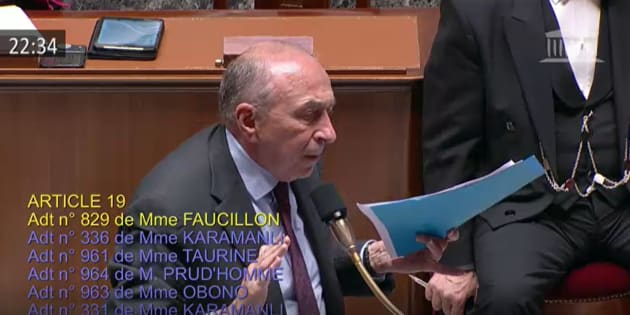 Incident à l'Assemblée entre Gilbert Collard et Jean-Luc Mélenchon