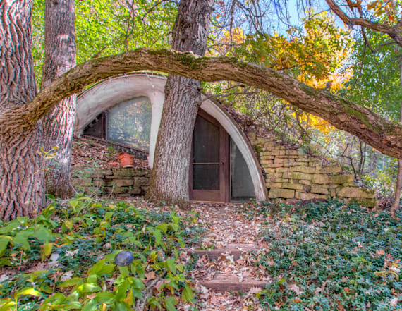 Unique hobbit home hits the market