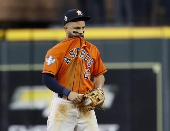 Jose Altuve denies wearing device to tip pitches