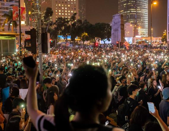 Hong Kong protests disrupt key political event