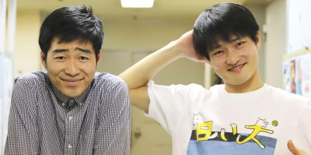 ジャルジャルの後藤淳平(左)、福徳秀介(右)