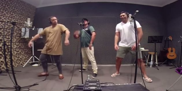 The Koi Boys singing Meghan Trainor's 'All About That Bass'.