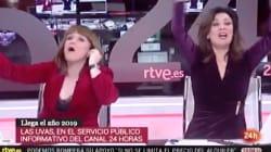 La loca celebración de Nochevieja de estas presentadoras del 24 Horas de