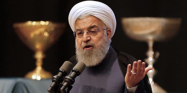 Hassan Rohani, président de l'Iran en avril 2018.