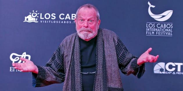 Terry Gilliam posa en la alfombra roja hoy, miércoles 7 de noviembre de 2018, en el marco del Festival Internacional de Cine en Los Cabos