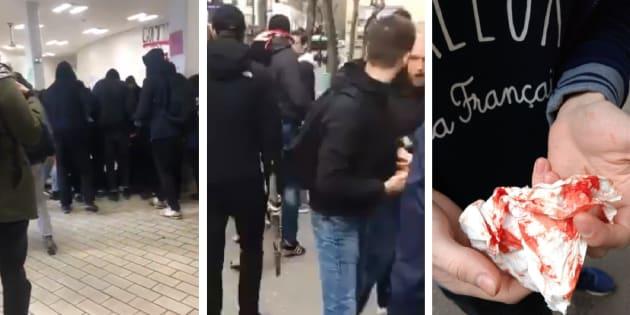 Images issues des vidéos des violences partagées sur les réseaux sociaux.