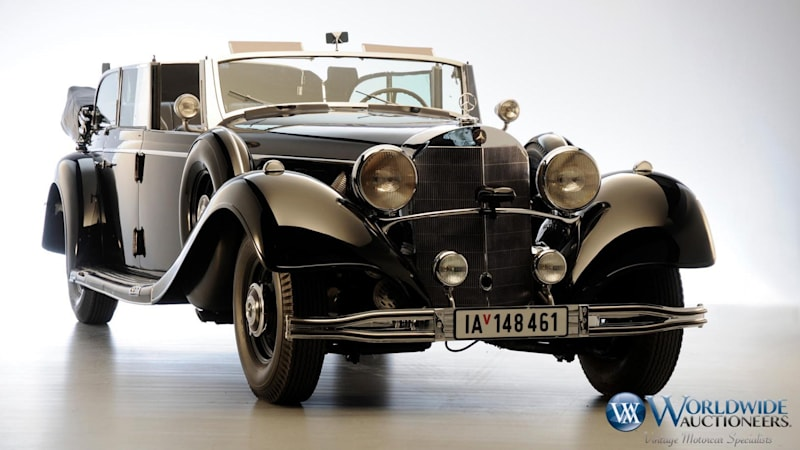 Armored Mercedes limo once used by Hitler is spotted near