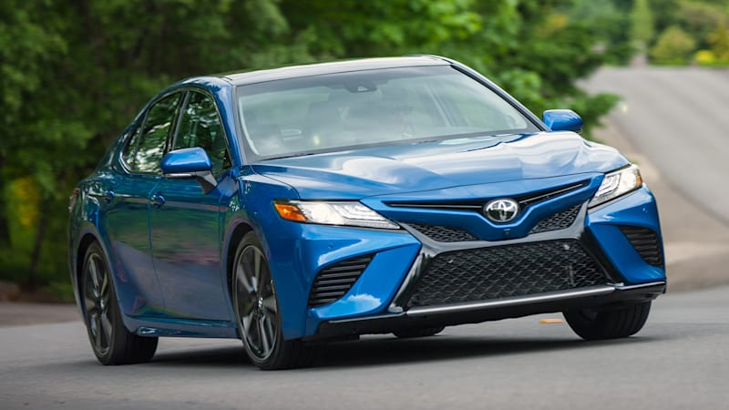 Toyota Improves 2018 Camry S Headlights Automatic Braking Earns