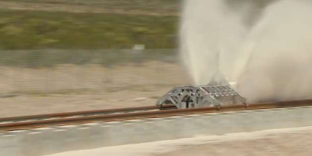 Hyperloop One tests its propulsion system.