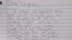 Couple Pens Thoughtful Letter To Homeless 'Neighbour' Living In