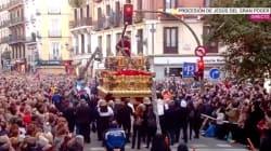 Tremendo susto en la procesión de Jesús del Gran Poder en