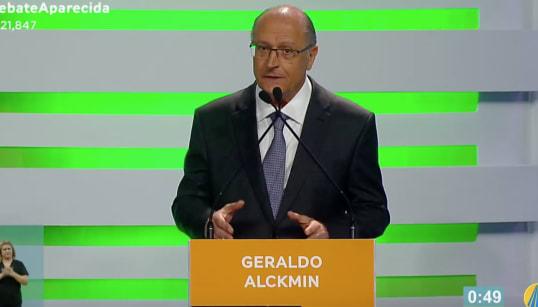 Alckmin ataca Haddad em debate: 'Lançou candidatura na porta de