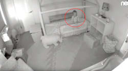Hidden Camera Reveals Toddler's Adorable Escape