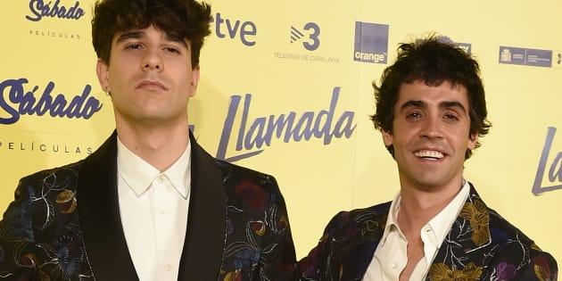 Javier Calvo y Javier Ambrossi, durante el estreno de la película 'La Llamada' en Madrid.