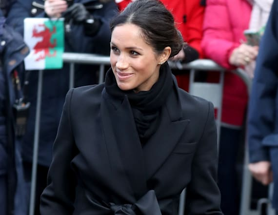 Meghan Markle dons head-to-toe black