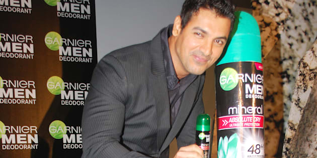 Actor John Abraham at a promotional event for Garnier Men in Mumbai on April 27, 2010. (Photo by Yogen Shah/India Today Group/Getty Images)