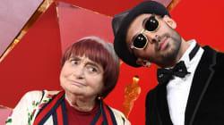 Agnès Varda et JR s'amusent sur le tapis rouge des