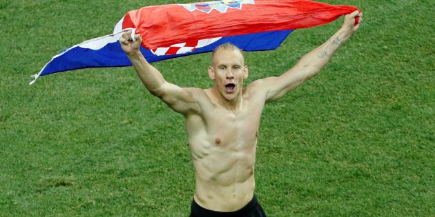 O zagueiro Domagoj Vida, da seleção da Croácia.