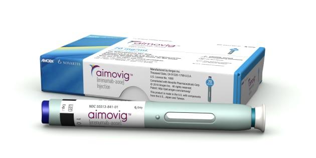 Ce stylo à injection développé par les groupes pharmaceutiques suisse Novartis et américain Amgen, s'utilise une fois par mois.