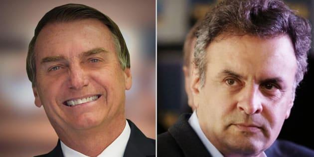 Eleitores de direita têm preferido Bolsonaro a Aécio, de acordo com pesquisas presidenciais.