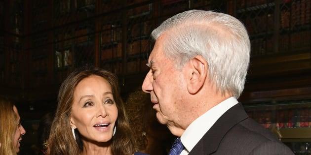 Isabel Preysler y Mario Vargas Llosa en el evento del 13 de noviembre de 2017 en la Morgan Library & Museum de Nueva York.