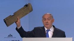 Netanyahu brandit un morceau de drone et met en garde l'Iran: