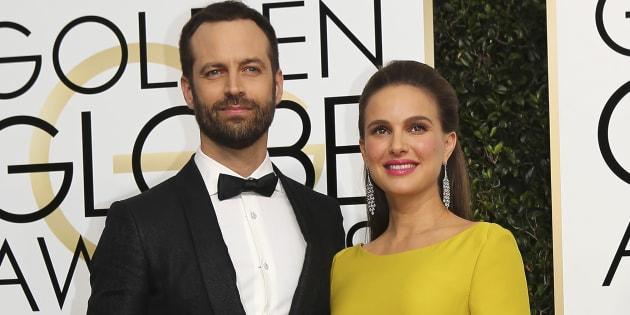Natalie Portman et Benjamin Millepied, ici sur le tapis rouge des Golden Globes accueillent Amalia, leur deuxième enfant