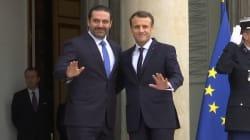 Les images de l'arrivée de Saad Hariri, reçu par Emmanuel Macron à
